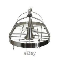 Pot Pan Cookware Rack Holder Hanging Ceiling Mount Storage Kitchen Organizer