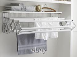 Pottery Barn Wall-Mounted Laundry Drying Rack Hanger Steel White Williams-Sonoma