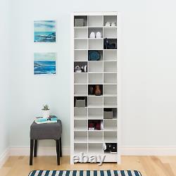 Prepac WUSR-0009-1 Cabinet, 36 pair Shoe Storage Rack, White
