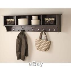 Prepac Wall-Mounted Coat Rack Entryway Shelf Coat Hanger