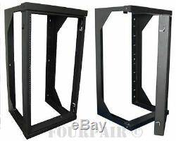 Professional 20U Wall Mount Swing Out Network IT Data Audio Rack 25 Depth 3Ft