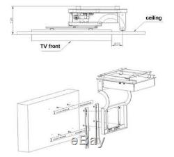 Quality 32-70in LCD TV Ceiling Rack Bracket Electric Remote Control Lift Tool