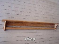 Quilt Holder Rack Wall Mount Shelf 48 Inch Oak Quilt Rack Wall Hanging