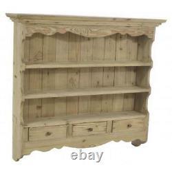 Rack Vintage Kitchen Storage Wall Shelf Holder Solid Wood Unit Mounted Display