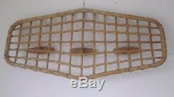 Rattan Wall Mounted Coat Rack by Olaf von Bohr for Bonacina 1950s