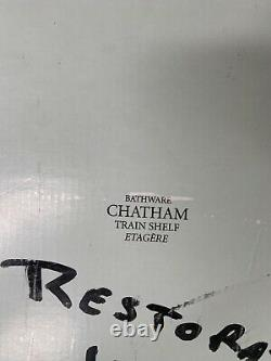 Restoration Hardware Chatham Train Rack Etagere Polished Chrome NIB Retails $595