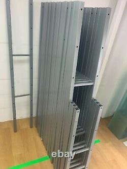 Retail Shop Fitting Display 7 Tempered Glass Shelves Shelving Rack Complete Bays