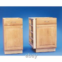 Rev-A-Shelf 432-BF-6C 6-Inch Cabinet Base Filler Pullout Organizer Rack, Maple