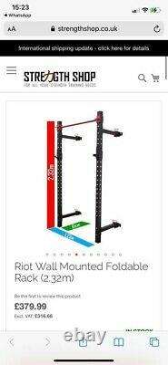 Riot Wall Mounted Foldable Rack 3.2m with arms and hooks brand new boxed unopen
