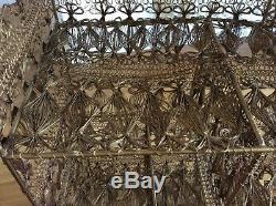 Rockett St George Ornate Brass Wirework Storage Rack. Stunning and unusual