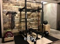Rogue Rml-3w Fold Back Olympic Wall Mount Squat Rack / Bench Brand New In Box