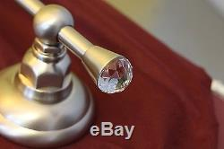 Rohl Country Bath 18 Satin Nickel Wall Mount Towel Bar Rack Swarovski Crystal