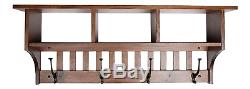 Rooms Organized Wall Mounted Mission 3- Cubby Coat Rack with Shelf Mission Oak w