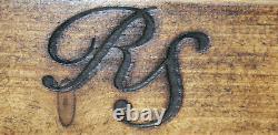 Rustic Coat Rack & Shelf Solid Wood Medium Oak & Farrow & Ball Moles Breath 80cm