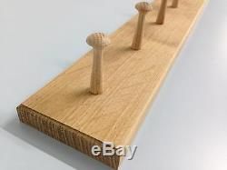 SOLID OAK shaker peg rail, vintage style wooden coat hooks rack shabby chic