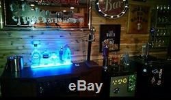 SPARIK Home Lighting Wine Racks 2 Ft LED Lighted Liquor Bottle Display Shelf RC