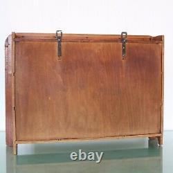 SPICE RACK Antique MILOTA Clock CERAMIC/WOOD Furniture Cabinet FULLY RESTORED