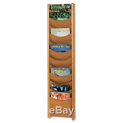 Safco Solid Wood Wall-Mount Literature Display Rack 11-1/4 x 3-3/4 x 48 Medium