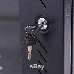 Safstar 18U Wall Mount Network Server Data Cabinet Enclosure Rack Glass Door With