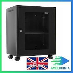 Server Cabinet Case 12U Wall Mount Network IT Server Cabinet Data Rack 53X40X60