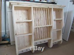 Shabby chic Style Pine Plate Rack