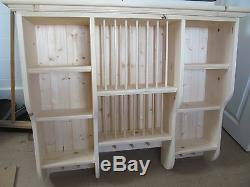 Shabby chic Style Pine Plate Rack