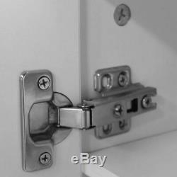 Shoe Cabinet Rack Storage Cupboard 7 Shelves Footwear Stand Oak White WIth Door