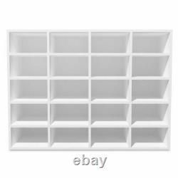 Shoe Rack Chipboard 20 Pairs Shoes Storage Organiser Shelf Footwear White/Oak