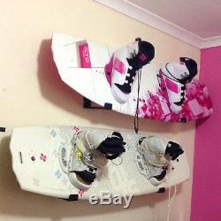 Skateboard Snowboard Wall Mounted Padded Rack Shop Display Shelf Storage Bracket