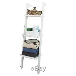 SoBuy 3 Tiers Ladder Shelf Rack, Storage Display Bookcase, FRG32-W, White, UK