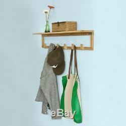 SoBuy Home Office Wall Coat Rack Bathroom Towel Rack Shelf 6 Hooks, FHK06-N, UK