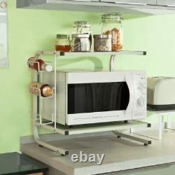 SoBuy Microwave Oven Rack Kitchen Storage Spice Holder Rack, FRG092-W, UK