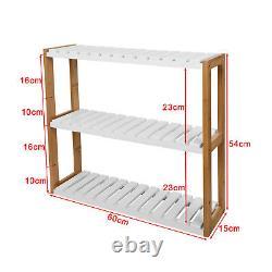 SoBuy Wall Wounted Shelf with Hook, Bathroom Kitchen Storage Rack, FRG28-WN, UK