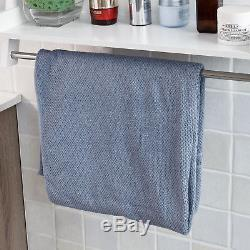 SoBuy White Wall Mounted Towel Rail Rack, Bathroom Storage Shelf, FRG117-W, UK