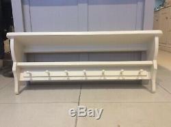 Solid Pine Double Peg Shelf, Coat Rack, Storage, Bookshelf, Shaker Peg Rail