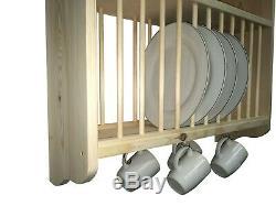 Solid Pine Plate Rack (PR2-70)