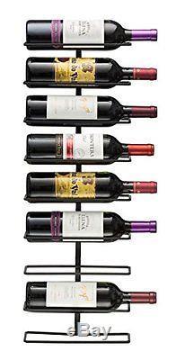 Sorbus Wall Mount Wine Rack Holds 9 Bottles