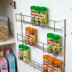 Spice Herb Jar Rack Holder For Kitchen Door Cupboard Storage Wall 3 4 5 & 6 Tier