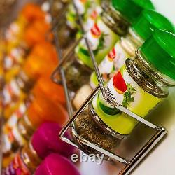 Spice Herb Jar Rack Holder For Kitchen Door Cupboard Storage Wall 3 4 & 5 Tiers