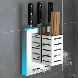 Stainless Steel Storage Rack Dish Drainer Drying Shelf Cutlery Holder Wall Mount