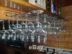 Stainless Steel Wine Glass Hanging Rack Holder Fix Shelf Hanger Bar