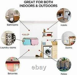 Step Up Laundry Drying Rack Airer -Wall Mounted Retractable Clothes Drying