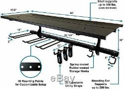 StoreYourBoard Garage Tool Storage Rack, Wall Mount Equipment Organizer Shelf