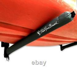 StoreYourBoard Outdoor 4 Kayak Storage Rack, Wall Mount Organizer, Holds 400 lbs