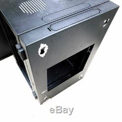 Strong SR-WMS-16U Wall-Mount A/V Equipment Rack Audio/Video Cabinet Black withKeys
