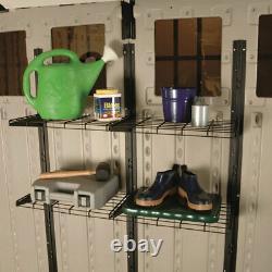 Suncast Versatile Heavy-Duty Wire Shed Storage Tier Shelf Storage Kit (2 Pack)