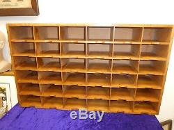 Superb Mid-Century Pigeon Hole Shelves Post Rack Free-Standing Or Wall Mounted