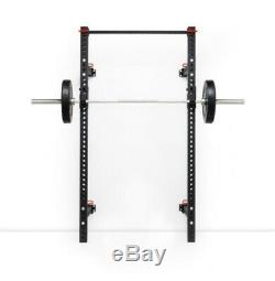 Swiss Barbell Folding Squat Rack Power Cage Wall Mounted Rig J-Hooks IN STOCK