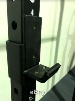 Swiss Barbell Single Squat Rack Power Cage Wall Mounted Rig J-Hooks IN STOCK