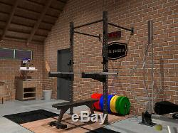 Swiss Barbell Single Squat Rack Power Cage Wall Mounted Rig J-Hooks New £424.99